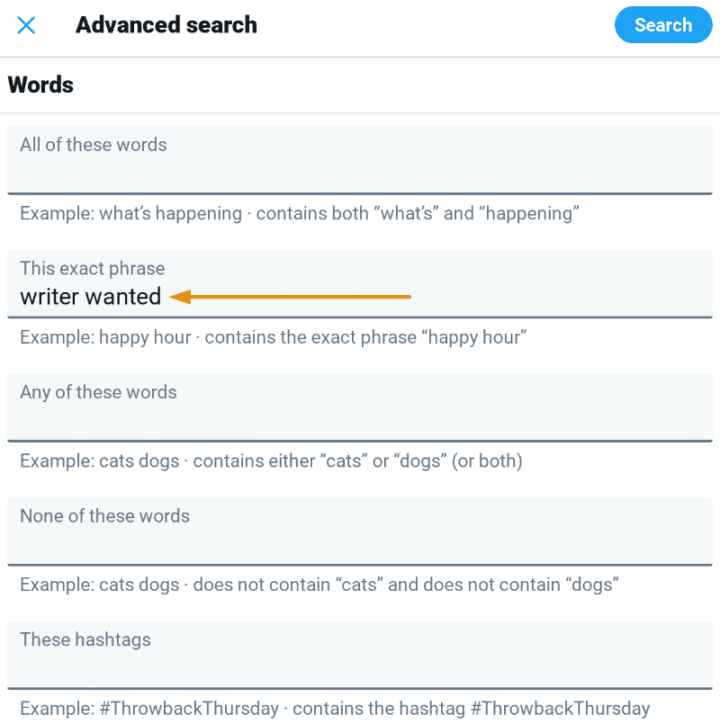 advanced twitter search example 1