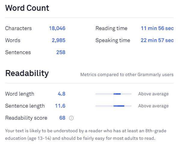 Readability example