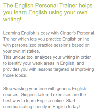 Ginger English Personal Trainer