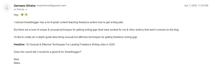 what is freelance writing content pitch