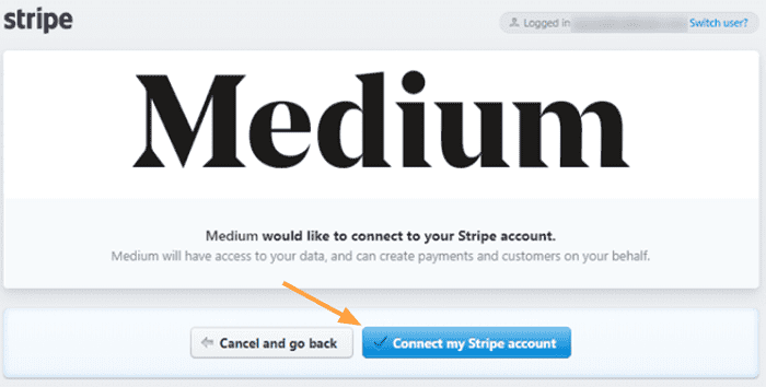 medium partner program connect stripe