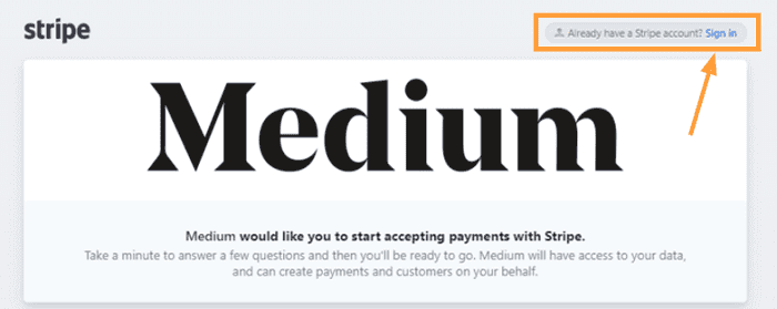 medium partner program medium stripe sign in
