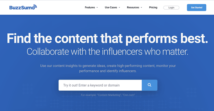 content marketing tools buzzsumo