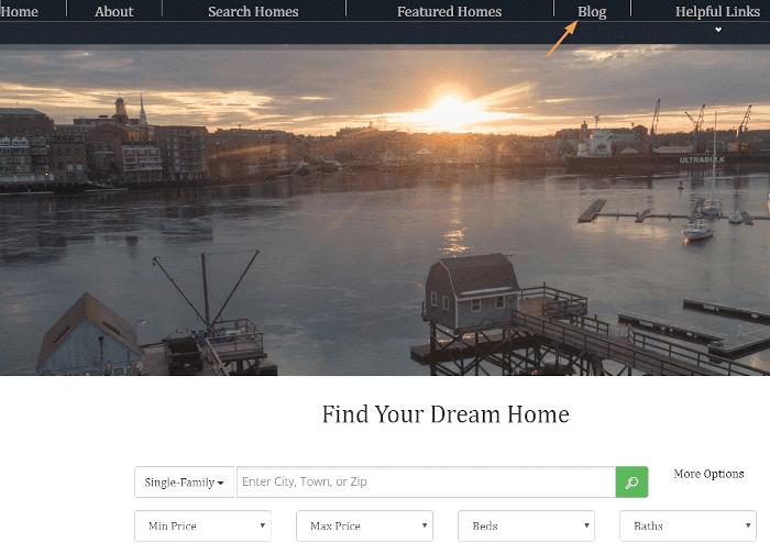 Local real estate screenshot
