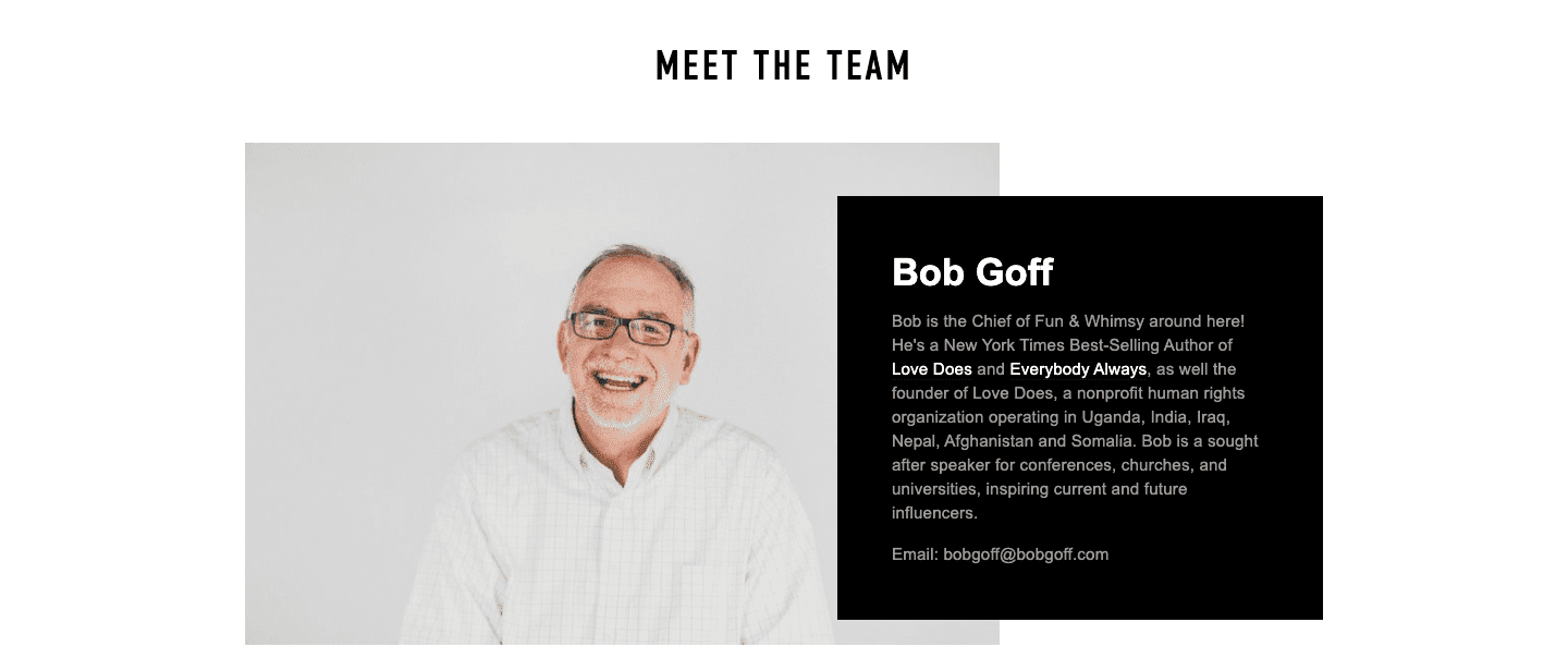 about us bob goff