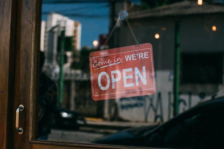 work life balance open sign