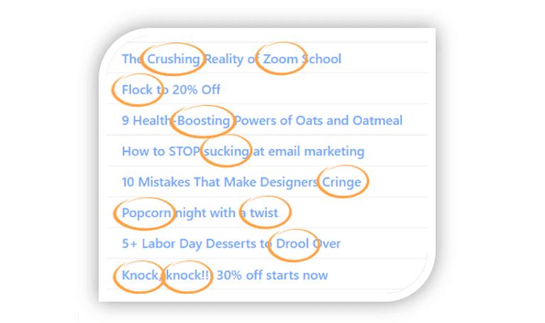 onomatopoeia examples email subject lines