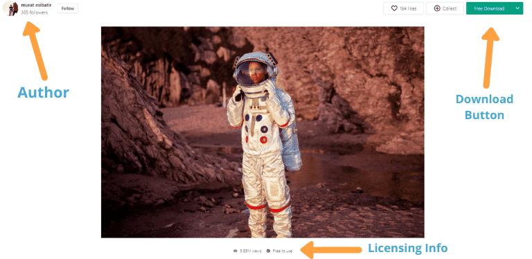 stock photo sites pexels layout