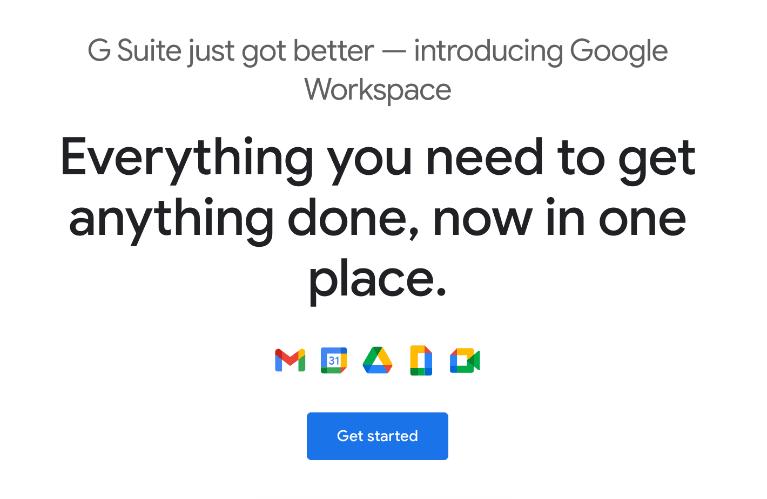 Google Workspace screenshot
