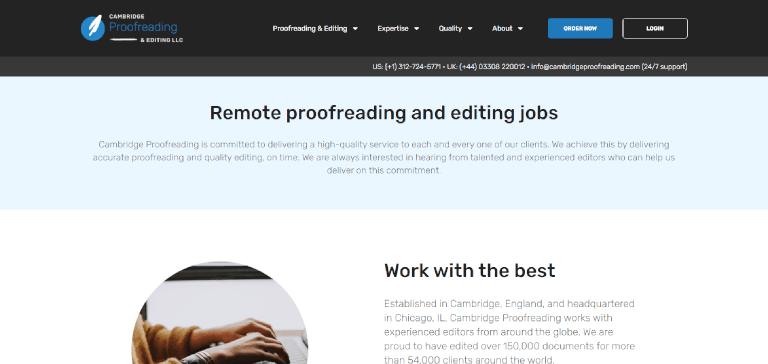 editing jobs cambridge proofreading and editing jobs