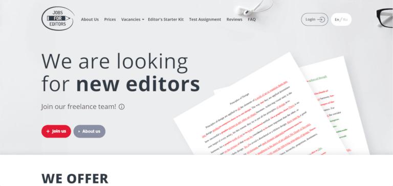 editing jobs jobs for editors