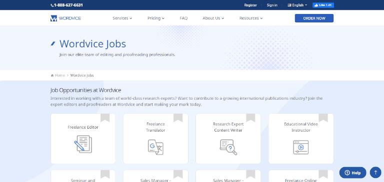 editing jobs wordvice