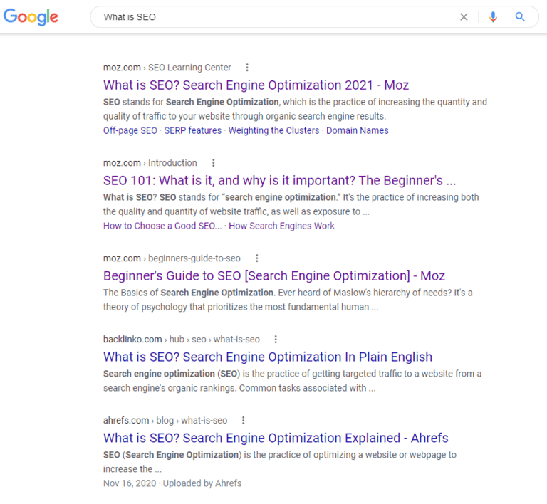 how to get clients google seo
