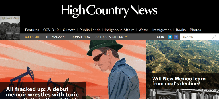 magazine writing jobs high country news