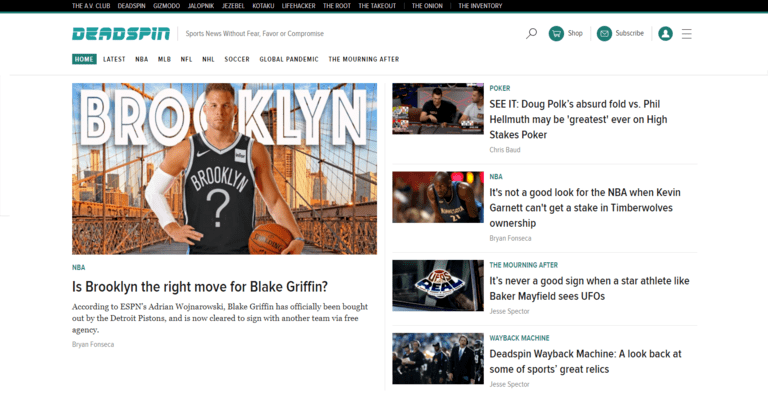 sports writing jobs deadspin