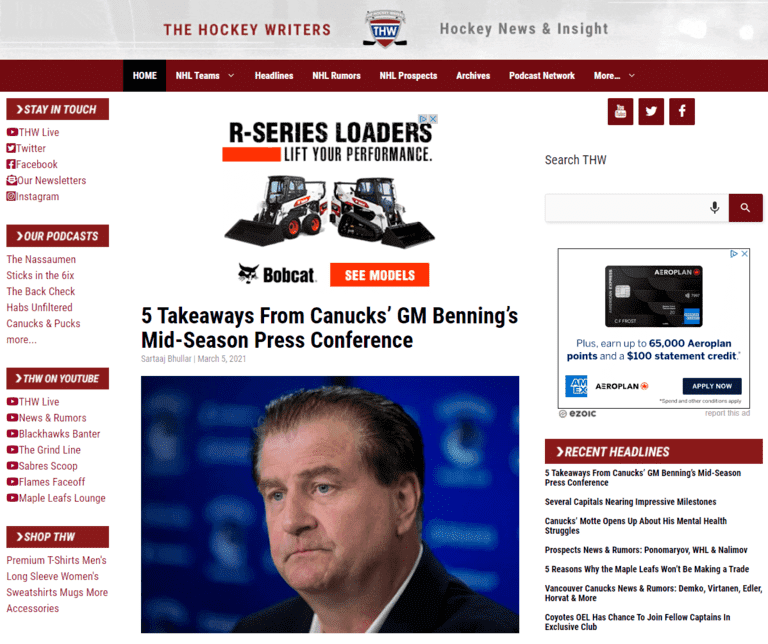sports writing jobs the hockey writers