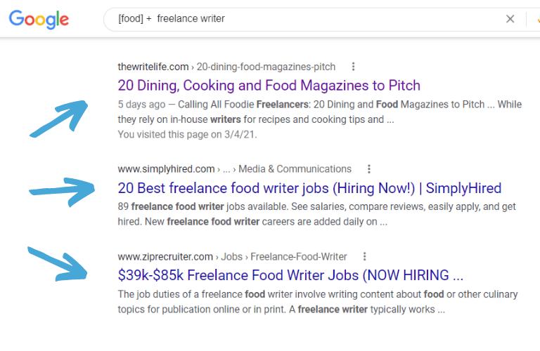 food writing jobs freelance writer google search