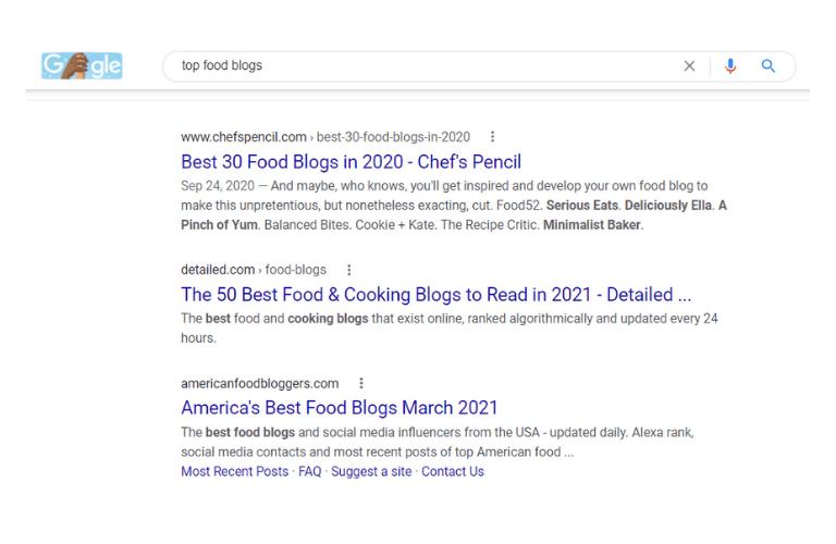 food writing jobs top food blogs google search