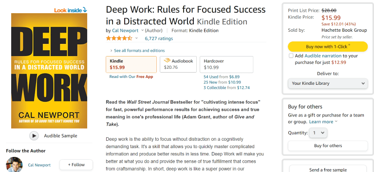 how to become a writer deep work book