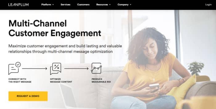 pushengage review leanplum homepage
