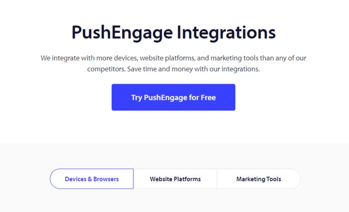 pushengage review pushengage integrations