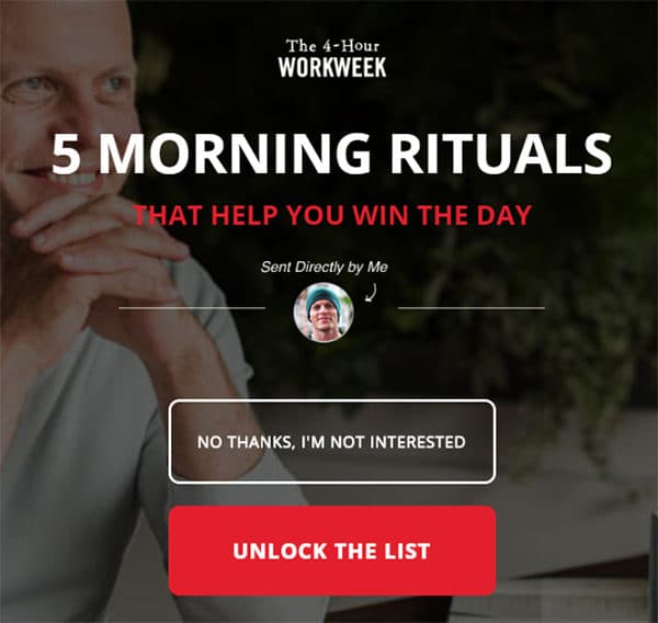 Use Power Words in Button Copy - Tim Ferris