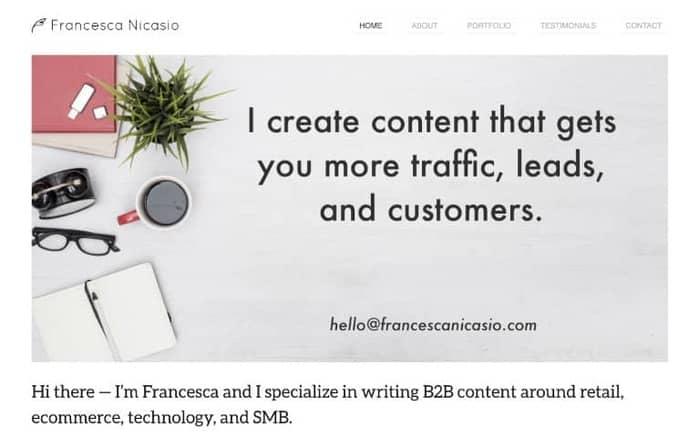 content writing francesca nicasio writer site