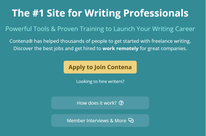 copywriting jobs contena join page