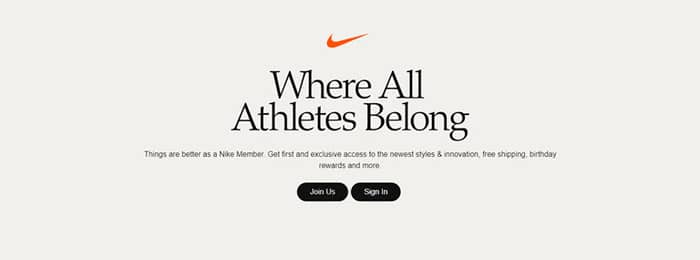 copywriting jobs nike sign up page