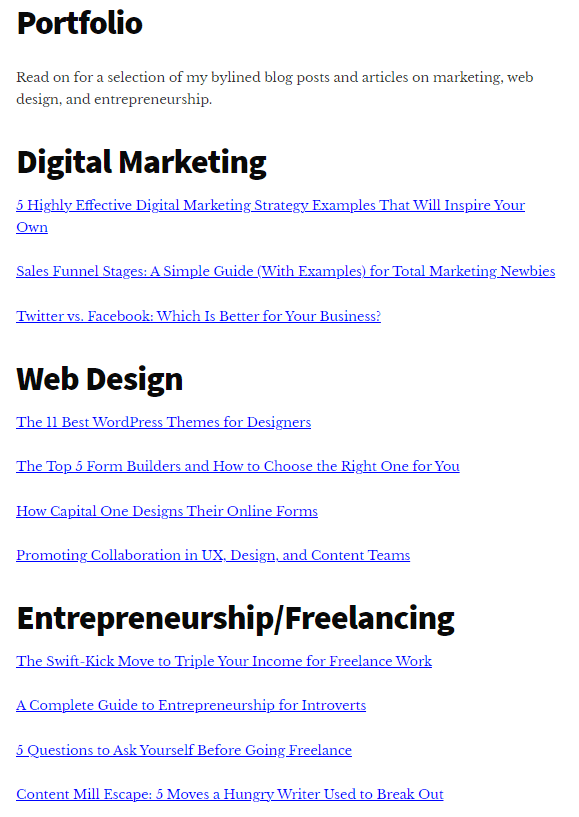 what is a freelancer tara malone writing portfolio