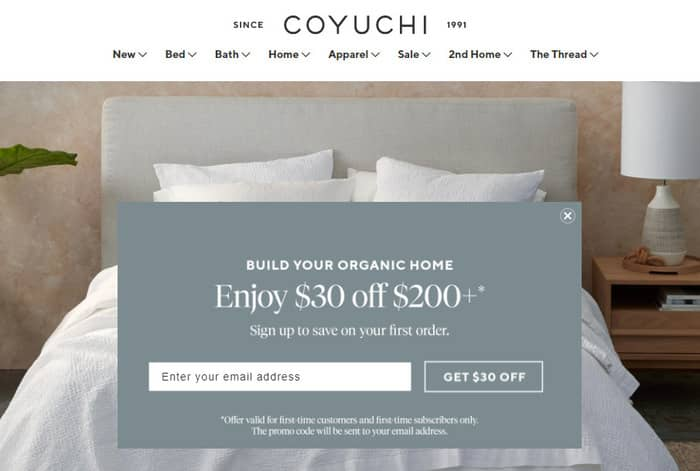 content marketing bedding ecommerce site