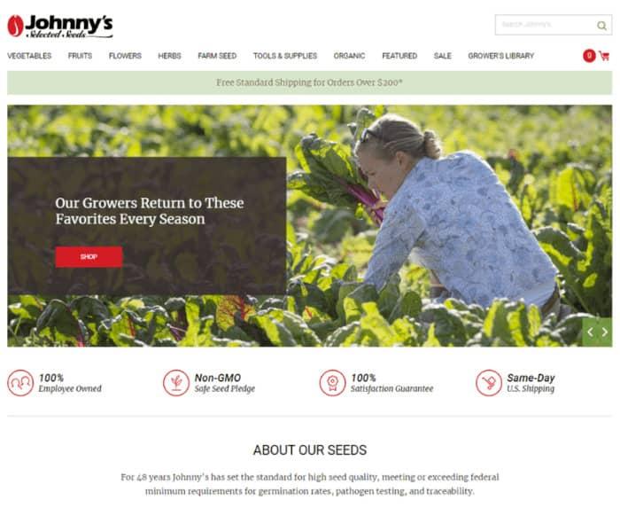 persuasive copy jonnhy's selected seeds homepage