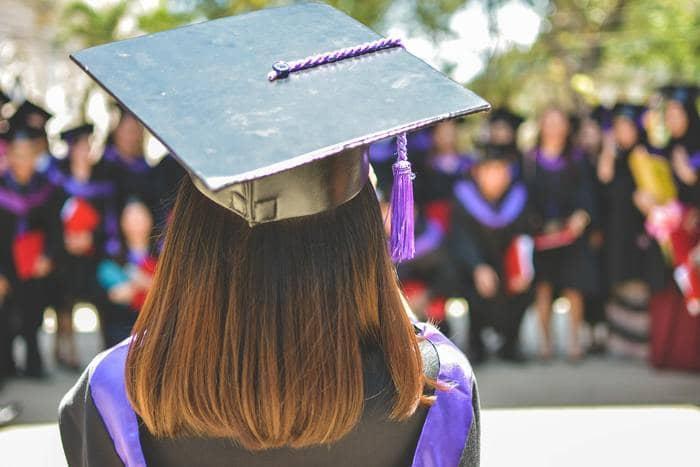 professional writer woman graduating