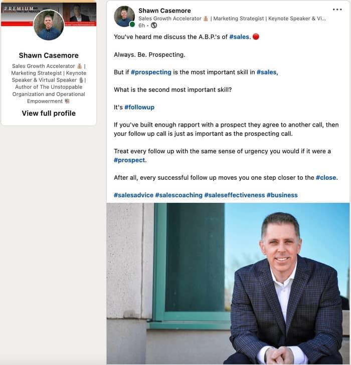 social media strategy linkedin post