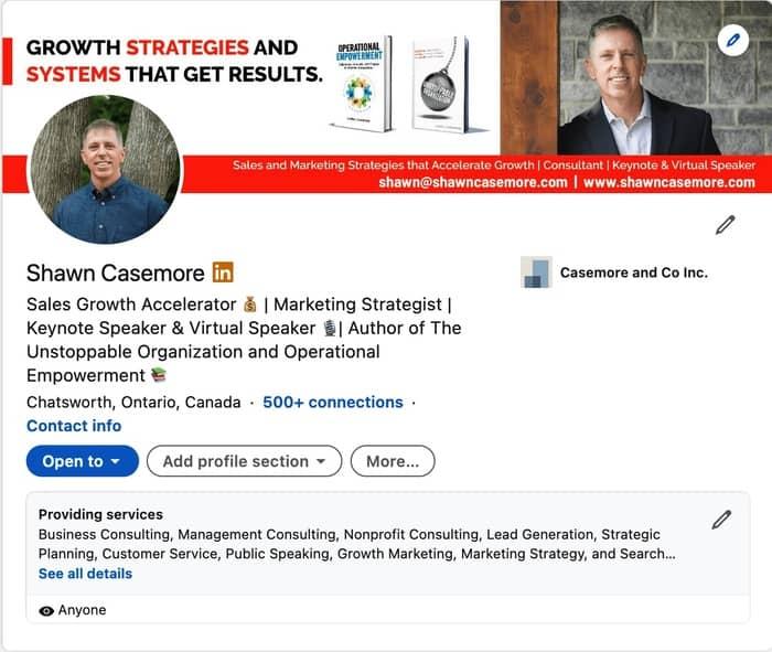 social media strategy shawn casemore linkedin profile