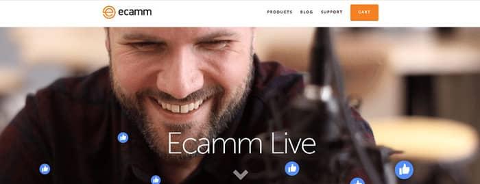 social media tools ecamm homepage