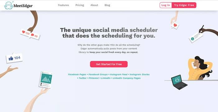 social media tools meet edgar homepage