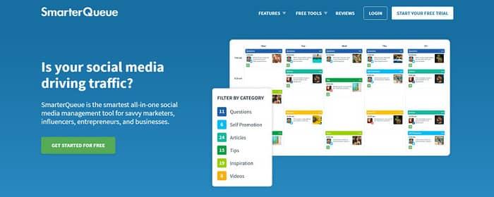 social media tools smarter queue homepage