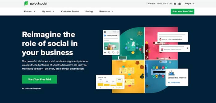social media tools sproutsocial homepage