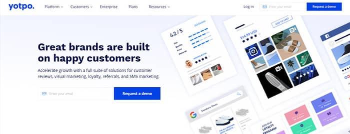 social media tools yotpo homepage