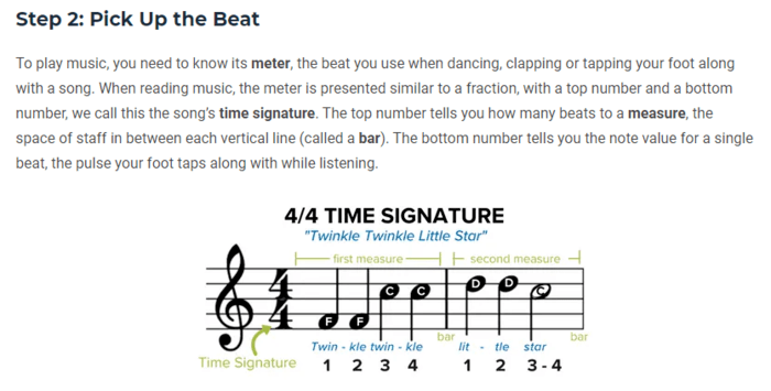 technical writing music instructions example