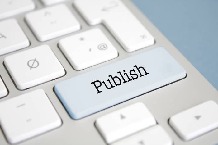 writing process publish button