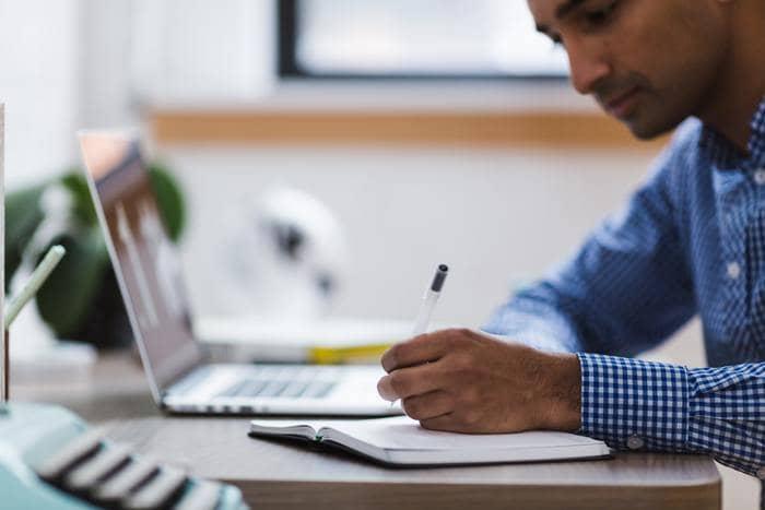 writing process man revising