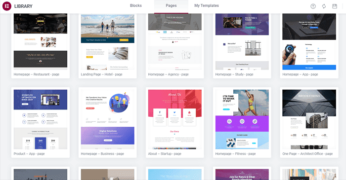 elementor review pro templates