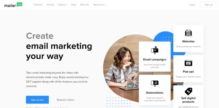 free email marketing services mailerlite