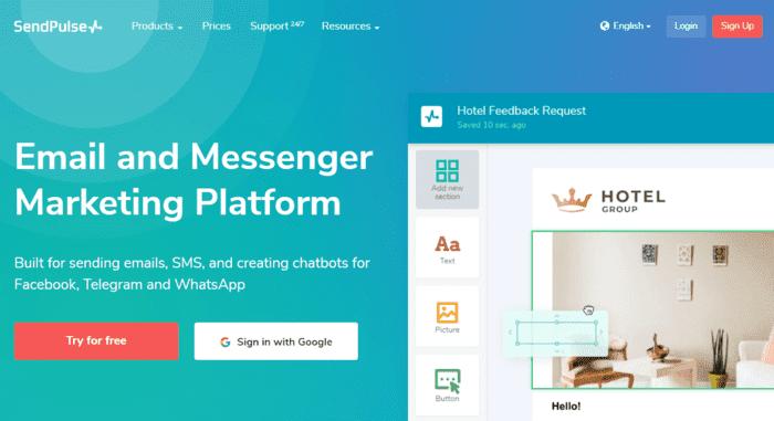 free email marketing services sendpulse