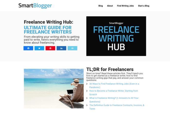 freelance writing sites smartblogger freelance writing hub page