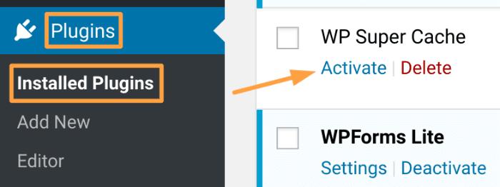 Activate WordPress Plugin How To Start A Blog