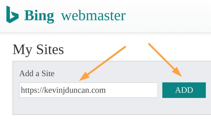 Add website to Bing Webmaster Tools How To Start A Blog