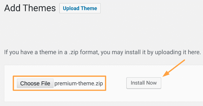 Start a blog - Premium WordPress Theme options